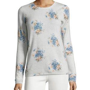 Joie Feronia cashmere floral print sweater NWOT L